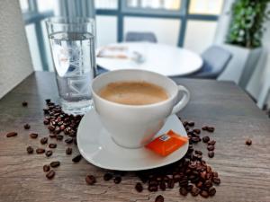 Eine Tasse Kaffee geht immer